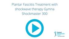 Plantar Fasciitis Treatment with shockwave therapy Gymna Shockmaster 300