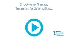 Shockwave Therapy Treatment for Golfer's Elbow.