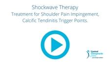 Shockwave Therapy, Treatment for Shoulder Pain Impingement, Calcific Tendinitis Trigger Points.