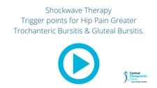 Shockwave Therapy Trigger points for Hip Pain Greater Trochanteric Bursitis & Gluteal Bursitis.
