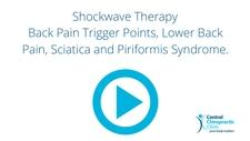 Shockwave Therapy, Back Pain Trigger Points, Lower Back Pain, Sciatica and Piriformis Syndrome.